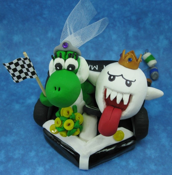 mario kart wedding cake toppers items similar to custom wedding cake topper king boo and 17146