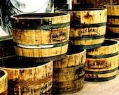 Jack Daniels Whiskey Barrels  4x6 Fine Art Print
