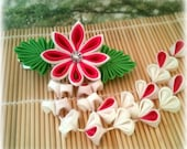 Tropical Breeze Japanese Kanzashi Clip Barrette