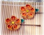 Golden Phoenix Japanese Kanzashi Bobby Pins