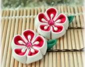 Hot Love Japanese Kanzashi Bobby Pins