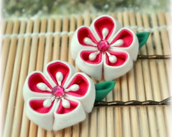 Hot Love Japanese Kanzashi Bobby Pins