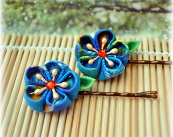 Peacock Beauty Japanese Kanzashi Bobby Pins