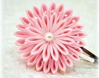 Pink Elegance Japanese Kanzashi Barrette