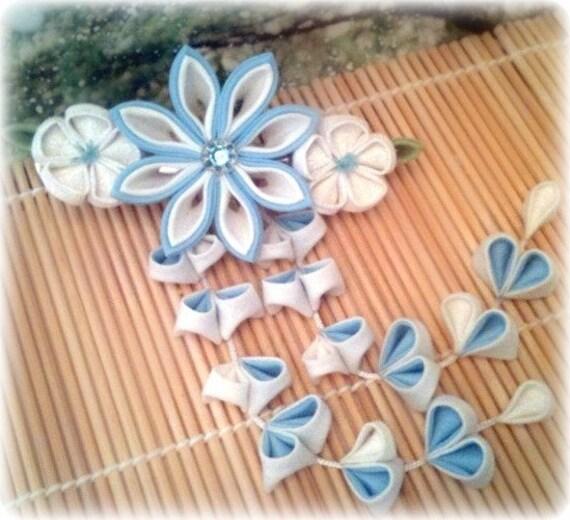 Winter Innocence Japanese Kanzashi Clip