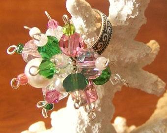 Sterling Silver Cluster Ring (Swarovski Crystal) - Katie