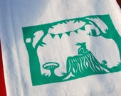 The forest party flour sack towel