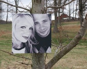 Your Own Photo Printed on Canvas-  Black and White or Color 12 X 12  Deep Profile