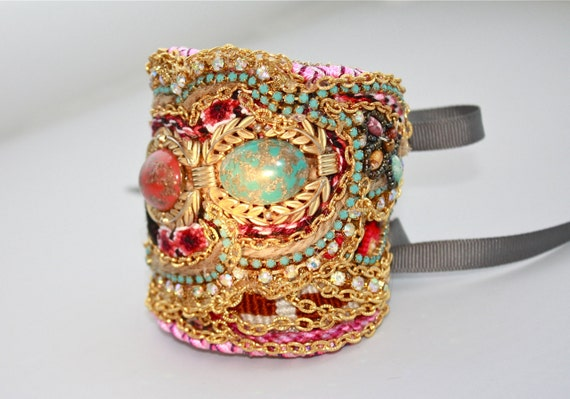 Sale/Ready To Ship- Diamonds Are Girls Best Friendship Cuff (Ophelia)