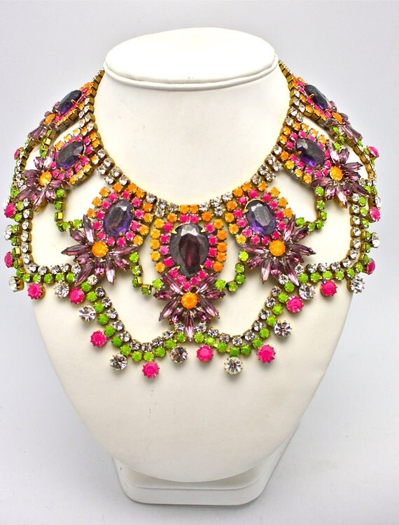 One of a Kind Statement Necklace- Buenos Aries (READY TO SHIP)