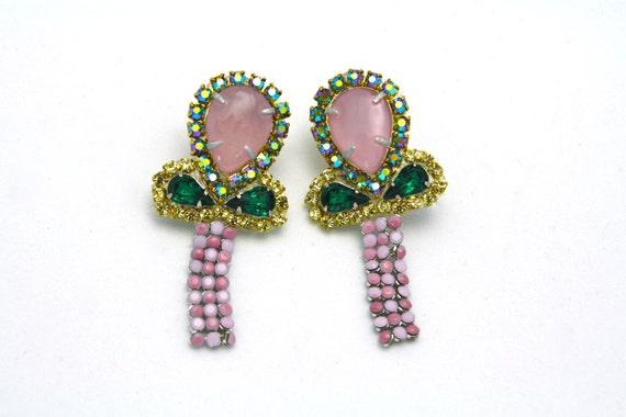 One of a Kind Water Color Earrings- Amsterdam (Ready to Ship)
