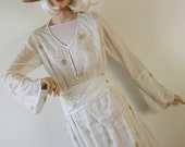 Orientalist Teens 1900s Dress 1920s Edwardian Dress Art Deco Antique Flapper Wedding Dress