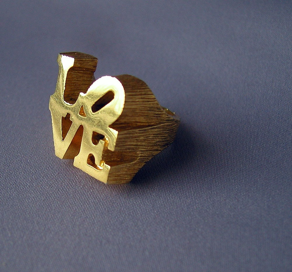 Iconic vintage robert indiana love ring 60s 1960s by archivia