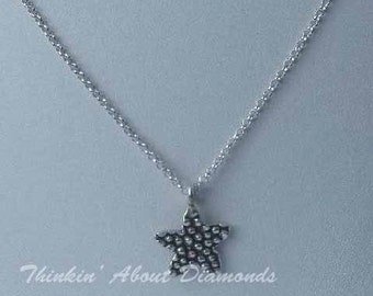 thai silver starfish charm necklace * sterling silver chain * summer necklace * summertime * birthday gift * bridesmaid gift