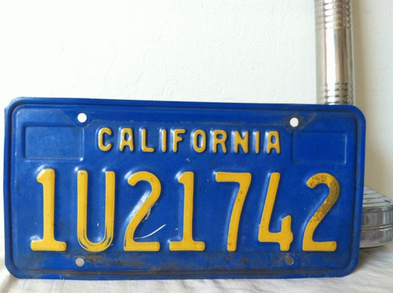Vintage California License Plate 1970s