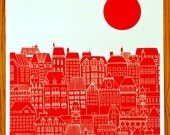Paris screen print by Christopher Bettig