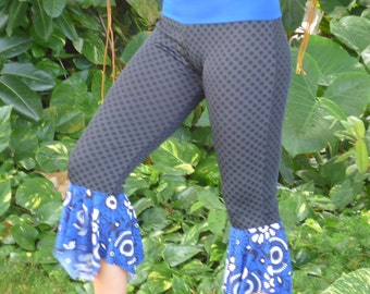 Blue/Black Dot Pixie Pants