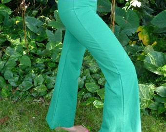 Green & Violet Organic Cotton Sassy Pants