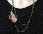 autumn leaf chain necklace