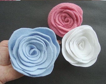 FLOWER TUTORIAL FELT roses, num. 38... How to make felt, fleece, or felted sweater spiral roses... ok to sell them