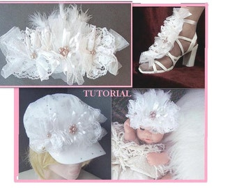 Flower TUTORIAL num. 39, Madelyn Leigh Flower cluster...for bridal or dressy occasions. No sewing machine required