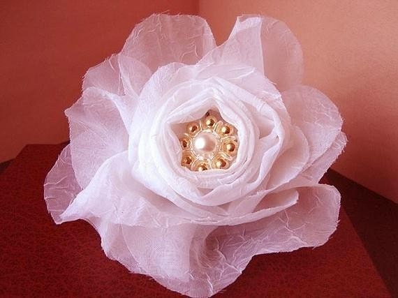pdf tutorial fabric flower ROLLED CENTER FLOWER num 16,... Make it any size...No Sewing Machine Required. More flower making in my shop