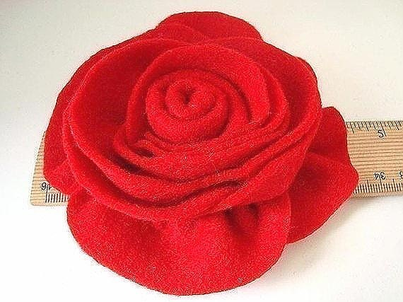 felt flower tutorial, FULL BODIED ROSE, pattern num. 9  Make them any size Sell them No sewing machine required...