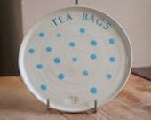 Hand-thrown Ceramic Tea Bag Tray