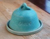 Hand-thrown Ceramic Garlic Roaster