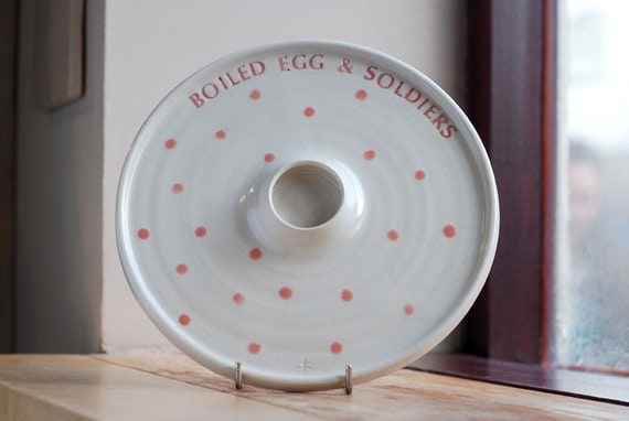 Hand Thrown Ceramic Boiled Egg And Soldiers Plate