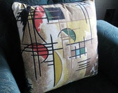 Vintage Atomic Intersection pillow