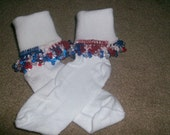 4th of July Beaded Socks and Scrunchie