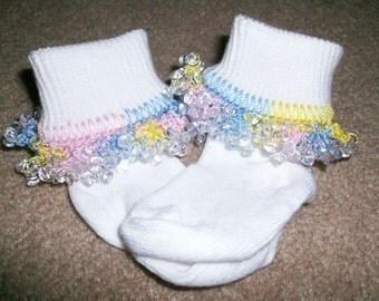 Simply Pastels Beaded Socks and Scrunchie