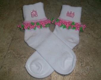 Princess Beaded Socks and Scrunchie