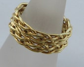14K Gold Custem Design Braid Band Wedding Ring