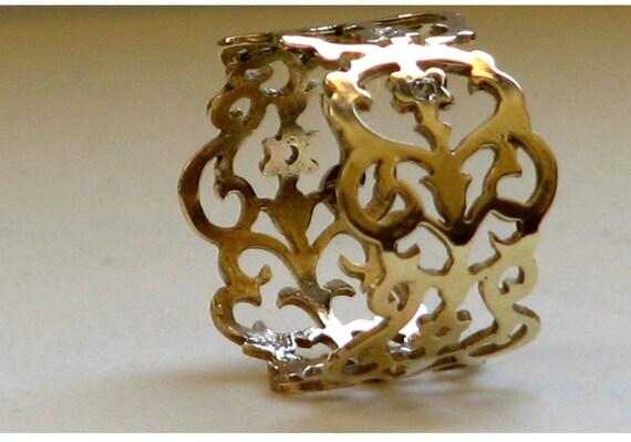 RESERVED ITEM Sylvan Lace ring, 14k gold yellow/white