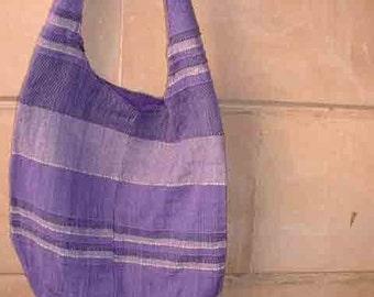 Purple shoulder hip bag