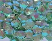 100 sequins PENTAGON...........GREEN/KBPS526