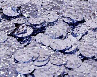 100 sequins.......textured silver color/KBRS049