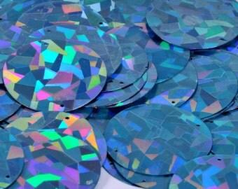 15 sequins.......textured metallic blue color/ KBRS041