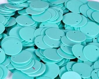 100 Round Blue Sequins/KBRS134