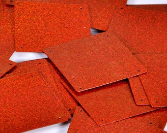 15 pcs  sequins.......Rust color square shape/ KBSS236