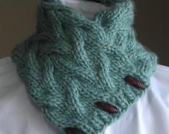 Knitting Pattern PDF- Sand Pond Neck Wrap/Cowl - easy quick gift unisex scarf cowl neckwarmer cozy - very easy pattern for bulky yarn