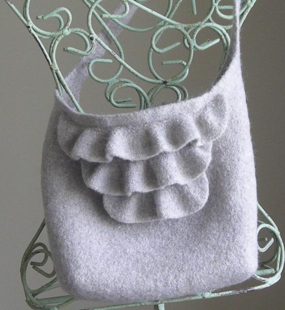 Knitting Pattern PDF - Felted Wool Nashville Tote - knit handbag shoulder bag - includes free tutorial on making a fabric lining