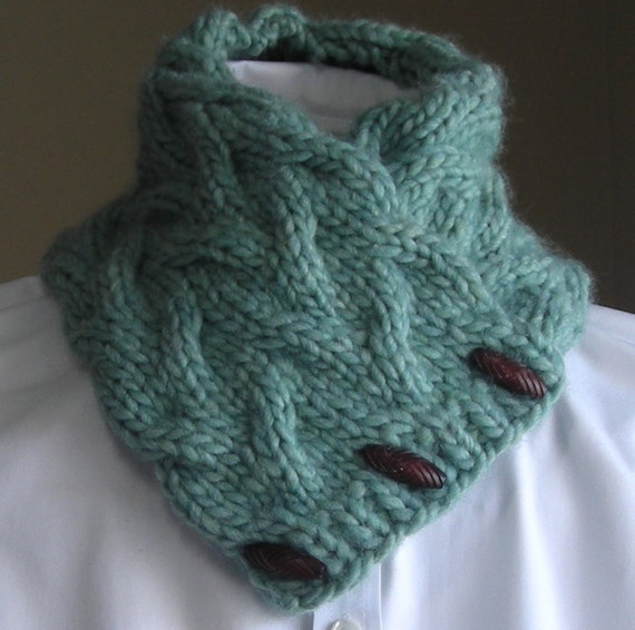 Free Knitting Patterns For Cowl Neck Scarves : Knitting Pattern PDF Sand Pond Neck Wrap/Cowl easy quick
