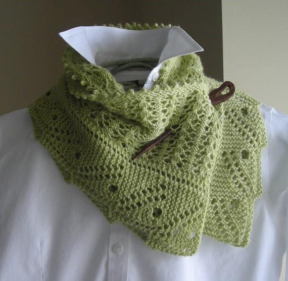 Knit Scarf Pattern Using Sock Yarn : Lace Scarf Shawl Knitting Pattern by lavenderhillknits on Etsy
