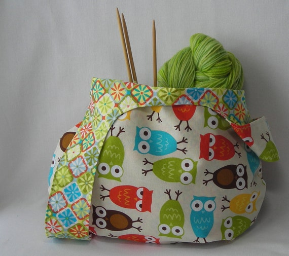Crochet Project Bag : knitting project bag - crochet project bag - amigurumi project bag ...
