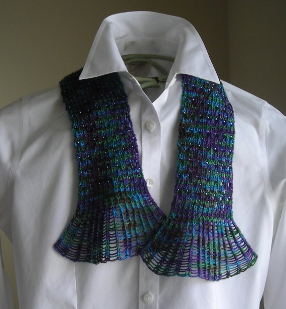 Knitting Pattern For Waterfall Scarf : Knitting Pattern PDF- Waterfall Lace Cravat - great for gifts - scarf cowl wr...