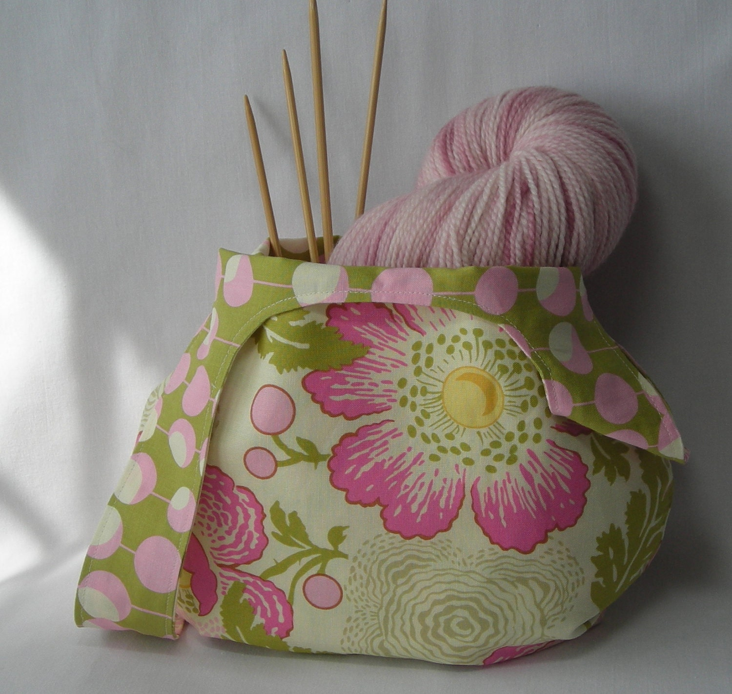 Crochet Japanese Knot Bag Pattern : japanese knot bag knitting project bag crochet project bag