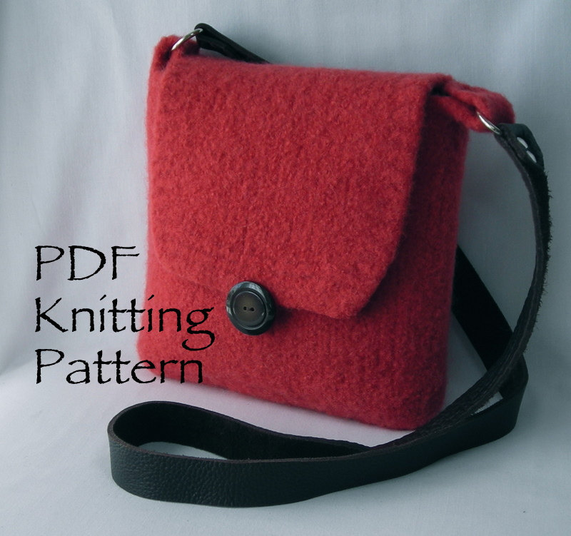 Knitting Pattern Felted Bag : Felted Shoulder Bag Pattern   Shoulder Travel Bag